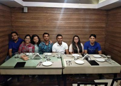 Lab celebrating Krishna_s birthday